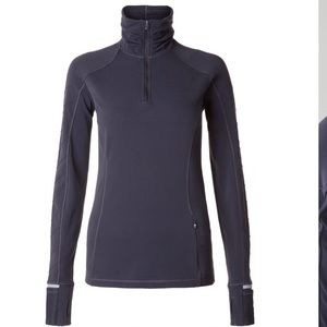 Lululemon black grape face the frost 1/2 zip 12